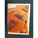 .ad/ handmade greeting card with 1959 HOFNER GUITAR