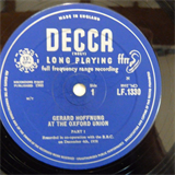 10' LP GERARD HOFFNUNG at the Oxford Union, 1958, Decca Mono lf 1330