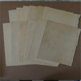 12 sheets genuine vintage reclaimed antique plain paper , medium / light ageing