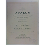 1920s songsheet AVALON fox-trot , al jolson, 4pages