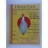 1920s songsheet I NEVER KNEW fox-trot 5PAGES + COVER ART pins & needles