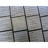 40 sheets ORIGAMI paper , genuine random music sheets 7.5x 7.5 cm VINTAGE