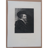 antique engraving circa 1900 , RUBENS , engraved by J Posselwhite