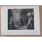 antique engraving circa 1900 , THE EARL OF STAFFORD GOING TO EXECUTION