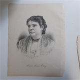 antique lithograph opera singer ANNIE LOUISE CARY , 22x28cm