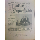 antique song sheet  IF I HAD THE LAMP OF ALADDIN, Hedges Bros + Jacobson 1920