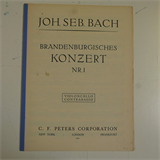bass / cello part BACH brandenburg concerto 1-6  , C F PETERS