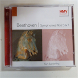 CD BEETHOVEN Symphonies 5 + 7, Kurt Sanderling,  HMV