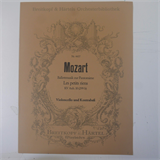 cello / bass part MOZART ballet music - les petits riens , breitkopf 4457
