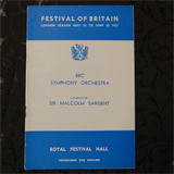 concert programme FESTIVAL OF BRITAIN malcolm sargent 1951
