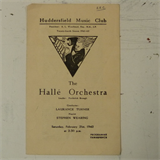 concert programme HUDDERSFIELD MUSIC CLUB halle orch - laurance turner 1942