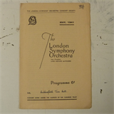 concert programme LONDON SYMPHONY ORCH 1941 , basil cameron & moiseiwitsch