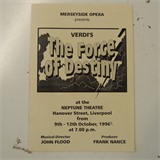 concert programme MERSEYSIDE OPERA oct 1996 THE FORCE OF DESTINY frank nance