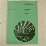 concert programme ROYAL LIVERPOOL PHILHARMONIC 1980-1 saturday series