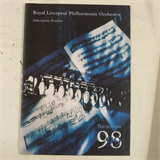 concert programme ROYAL LIVERPOOL PHILHARMONIC 1998-9 subscription series