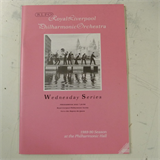 concert programme ROYAL LIVERPOOL PHILHARMONIC wednesday series 1988-9