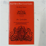 concert programme ROYAL OPERA COVENT GARDEN die zauberflote , may 1981