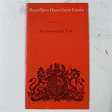 concert programme ROYAL OPERA COVENT GARDEN la clemenza di tito , 6 may 1974
