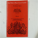 concert programme ROYAL OPERA HOUSE COVENT GARDEN otello , may 1981