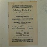 concert programme SALISBURY MUSICAL SOC / BOURNEMOUTH CHOIR & ORCHESTRA 1951