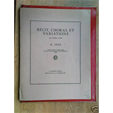 double bass DENIS JOLY recit , choral et variations