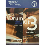 percussion DRUM KIT 3 pieces + studies grades 5 + 6 incl. CD, Trnity Guildhall