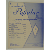 vocal  ASCHERBERGS POPULAR ALBUM tenor songs & arias