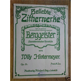 zither WILLY HINTERMEYER op.51 berggeister